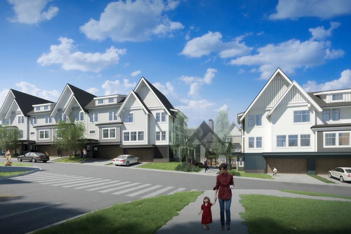 An artists rendering of the proposed Aragon Properties development in Sooke's town centre shows a friendly, walkable neighbourhood. (contributed)