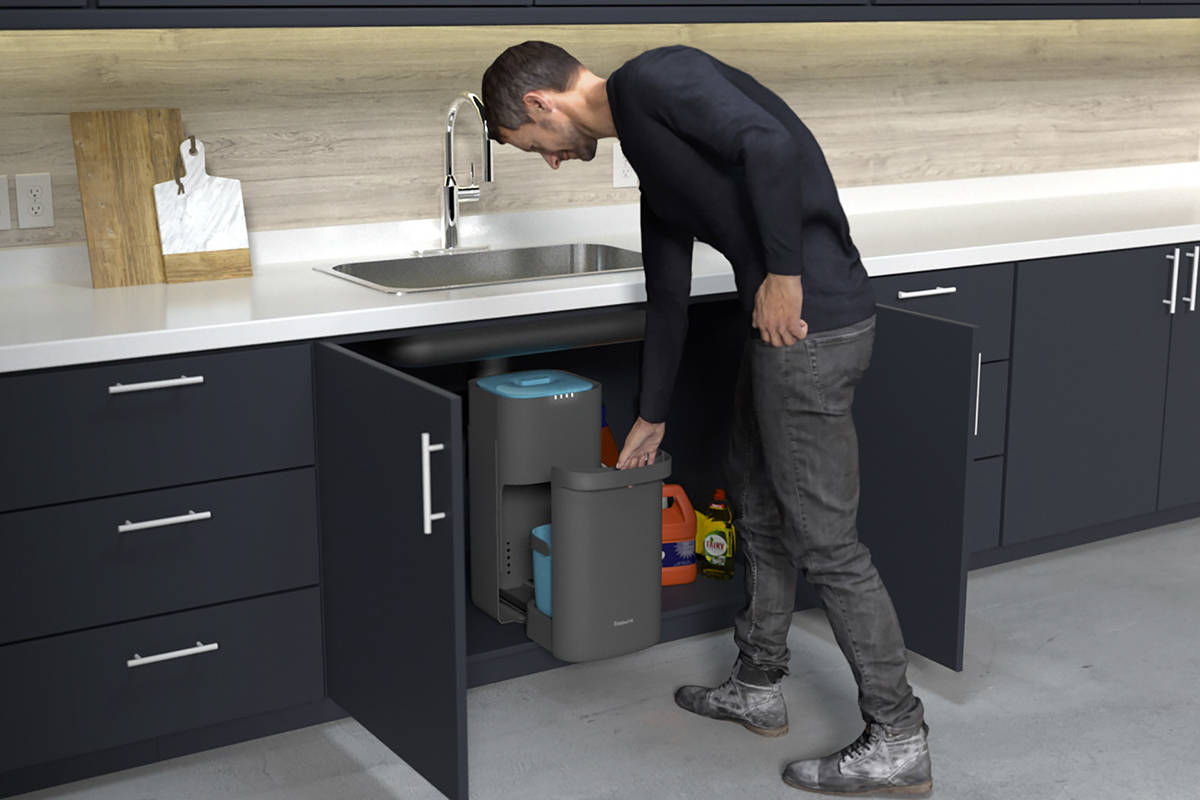 The Sepura is a garbage disposal system that separates solids from liquids and allows for stink and hassle-free composting. (Courtesy of Anvy Technologies)